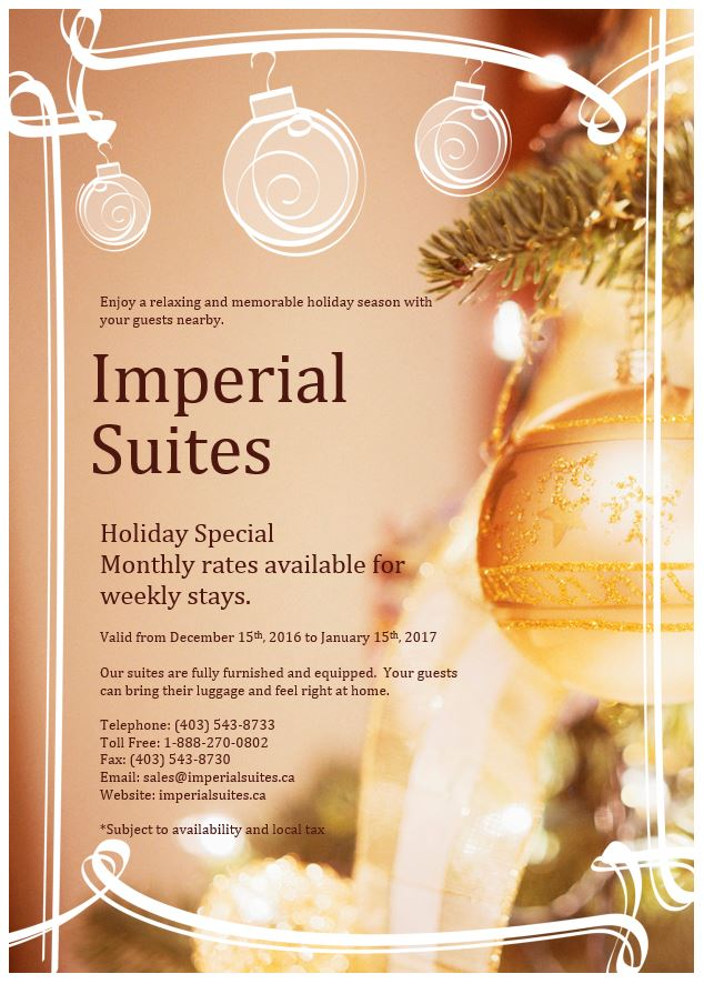 Imperial Suites Christmas Promotion